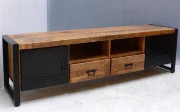 Industriele Tv Meubels : Tv meubel bas mango hout u outlet living tilburg